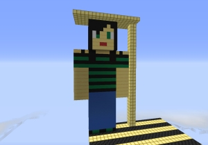 Mr Mancho created Jo Kay's avatar on his server to say thank you for her help :)