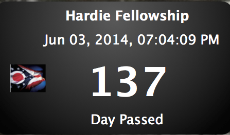 137 days have passed… #hardiefellowship