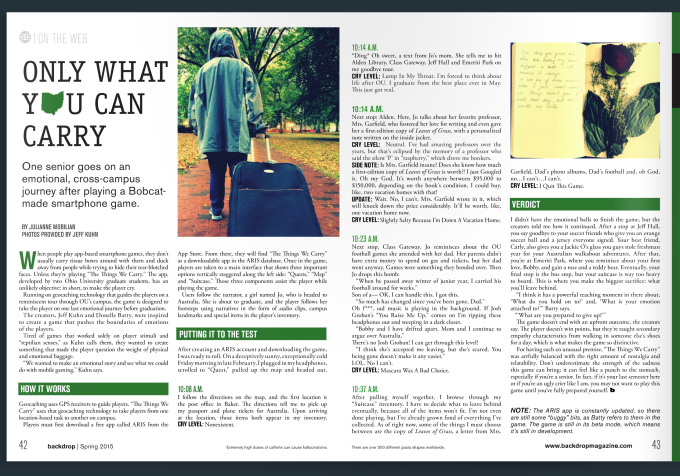 Only What You Can Carry - Backdrop Magazine